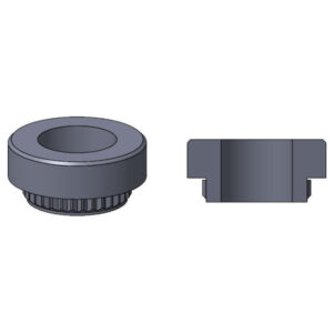 GRB Guide Pin Receptacle Nuts CAD rendering