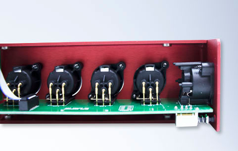 Audio input box inside closeup.