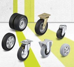 Premium rubber wheel and castor series