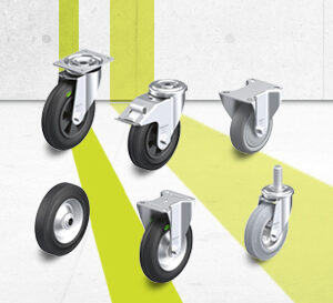 Rubber wheel and castor series